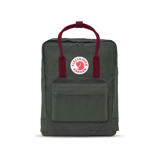 Bags Fjallraven KÅNKEN BACKPACK FORESTGREEN-OX RED Outlet Online