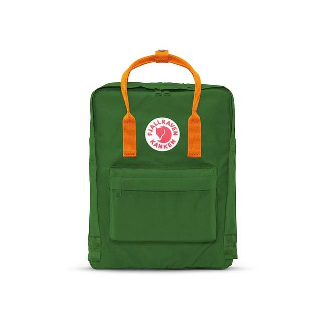 Bags Fjallraven KÅNKEN BACKPACK LEAF GREEN & BURNT ORANGE Outlet Online