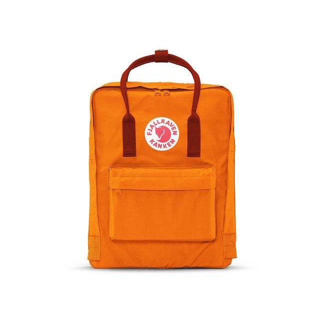 Bags Fjallraven KÅNKEN BACKPACK BURNT ORANGE & DEEP RED Outlet Online