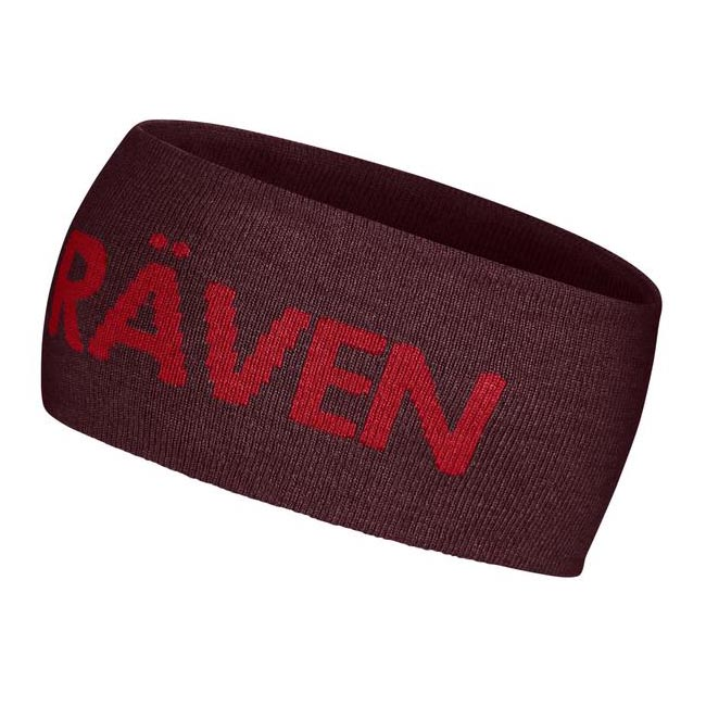Equipment Fjallraven LOGO HEAD BAND DARK GARNET Outlet Online