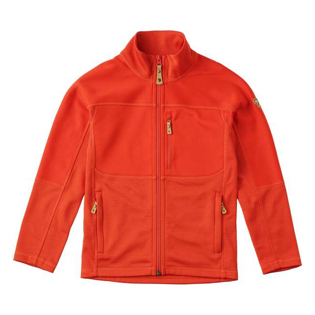 Women Fjallraven KIDS ABISKO TRAIL FLEECE FLAME ORANGE  Outlet Online