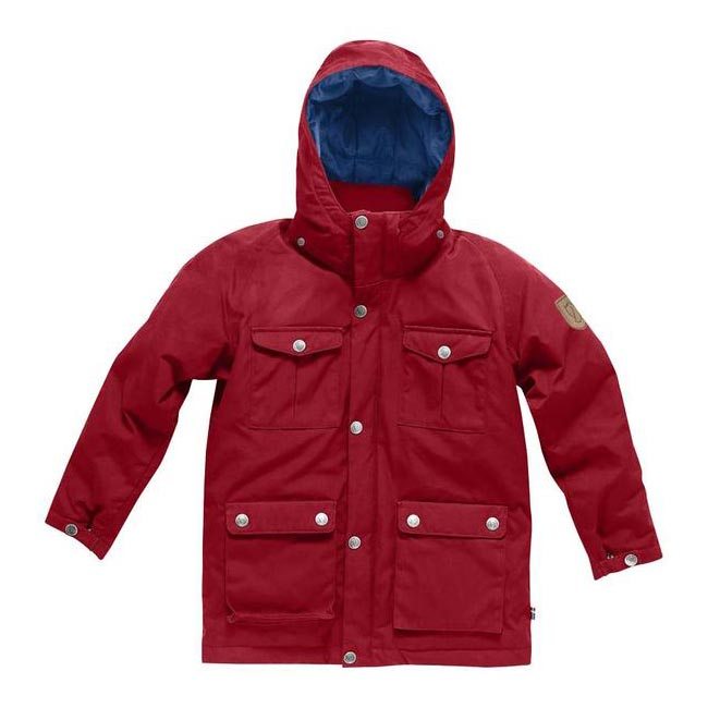 Women Fjallraven GREENLAND KIDS DOWN PARKA DEEP RED Outlet Online