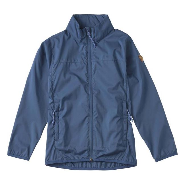 Women Fjallraven KIDS ABISKO WINDBREAKER JACKET UNCLE BLUE Outlet Online
