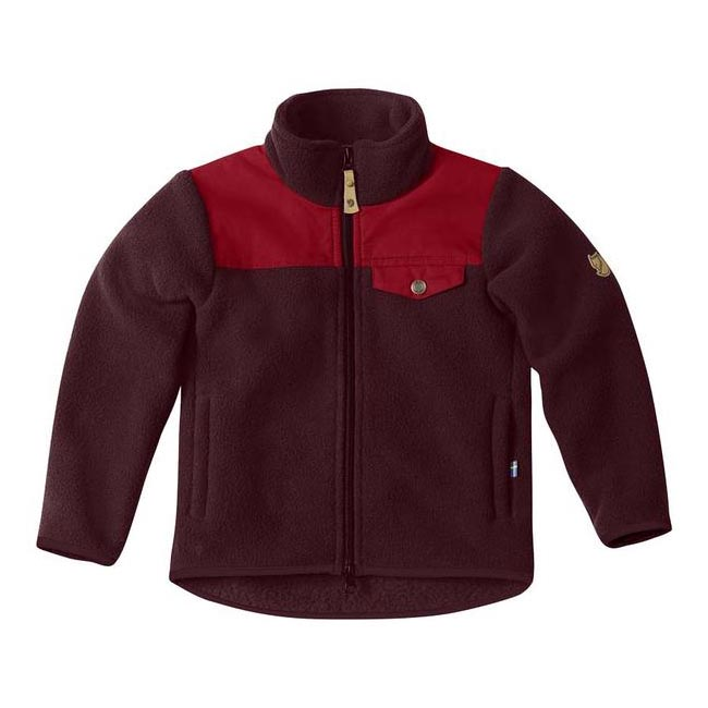 Women Fjallraven KIDS SINGI FLEECE JACKET DARK GARNET Outlet Online