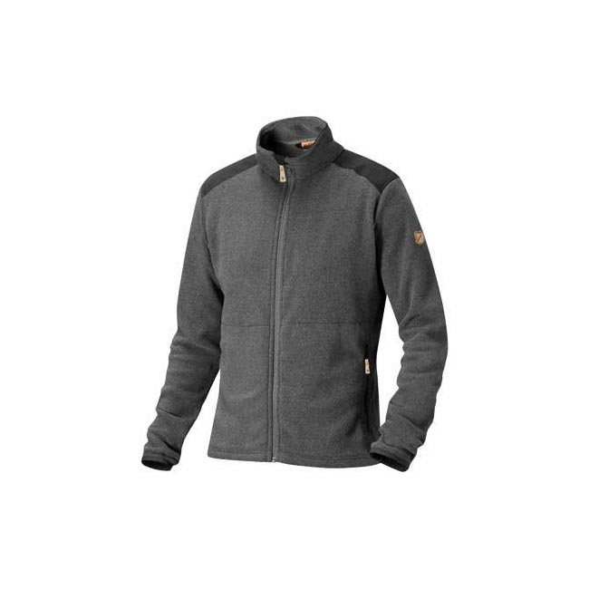 Men Fjallraven STEN FLEECE DARK GREY Outlet Online
