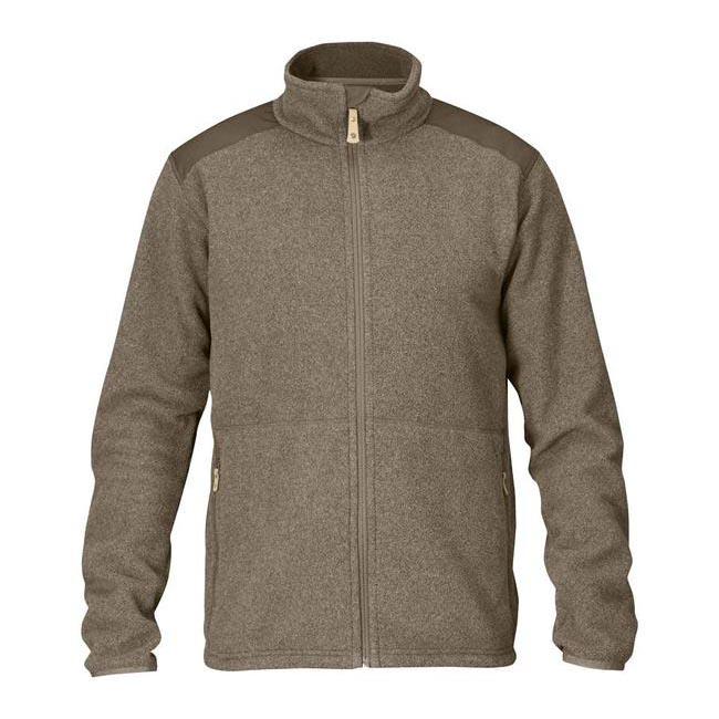Men Fjallraven STEN FLEECE TAUPE Outlet Online