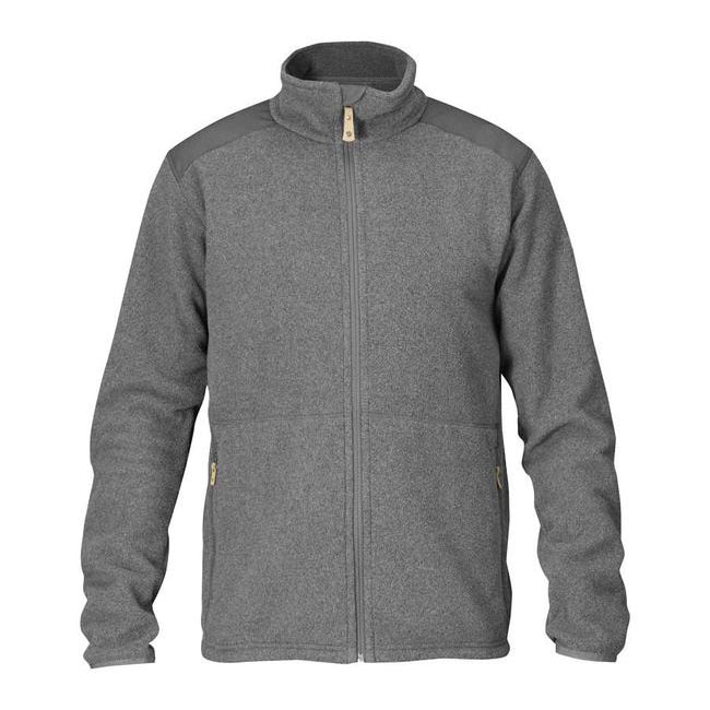 Men Fjallraven STEN FLEECE GREY Outlet Online