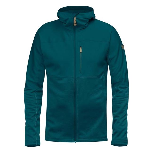 Men Fjallraven ABISKO TRAIL FLEECE GLACIER GREEN Outlet Online