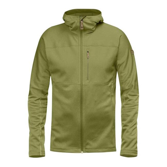 Men Fjallraven ABISKO TRAIL FLEECE MEADOW GREEN Outlet Online