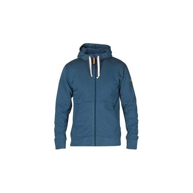 Men Fjallraven ÖVIK MEN\'S HOODIE UNCLE BLUE Outlet Online