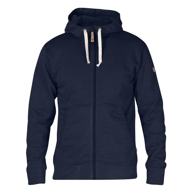 Men Fjallraven ÖVIK MEN\'S HOODIE DARK NAVY Outlet Online