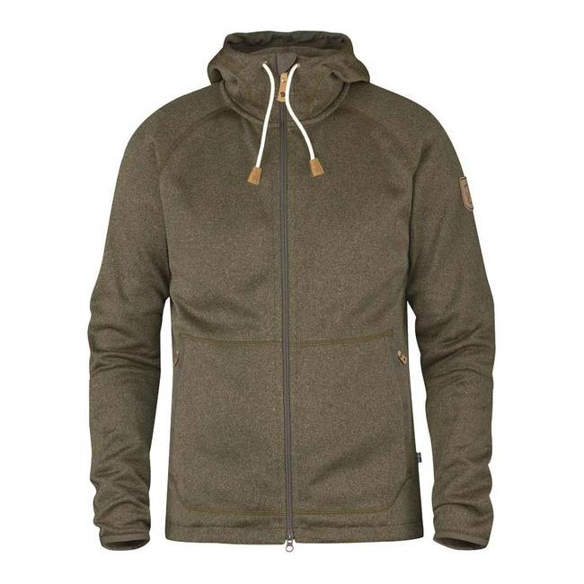 Men Fjallraven OVIK FLEECE HOODIE TARMAC Outlet Online