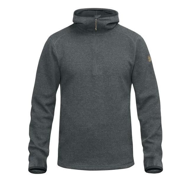 Men Fjallraven HIGH COAST WOOL HOODIE ASH GREY Outlet Online