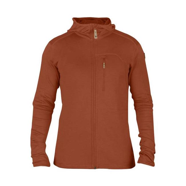 Men Fjallraven KEB FLEECE MEN\'S JACKET AUTUMN LEAF Outlet Online