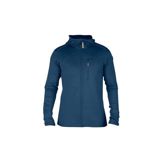 Men Fjallraven KEB FLEECE MEN'S JACKET UNCLE BLUE Outlet Online