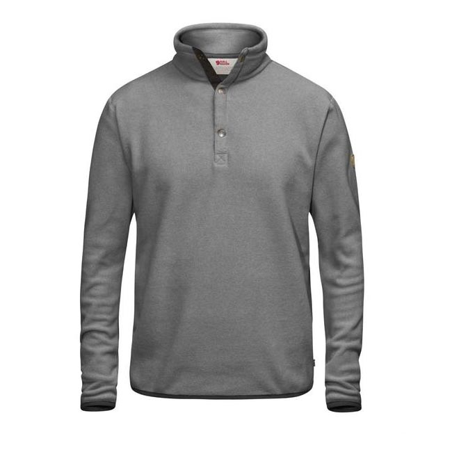 Men Fjallraven ÖVIK FLEECE SWEATER GREY Outlet Online