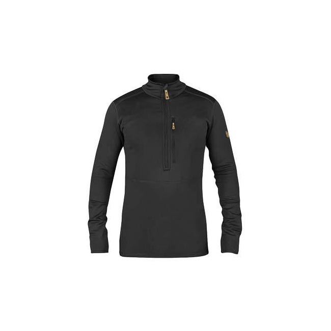 Men Fjallraven KEB FLEECE HALF ZIP DARK GREY Outlet Online