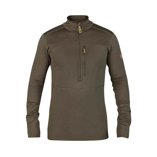 Men Fjallraven KEB FLEECE HALF ZIP TARMAC Outlet Online