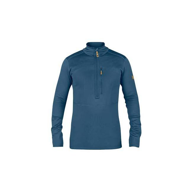 Men Fjallraven KEB FLEECE HALF ZIP UNCLE BLUE Outlet Online