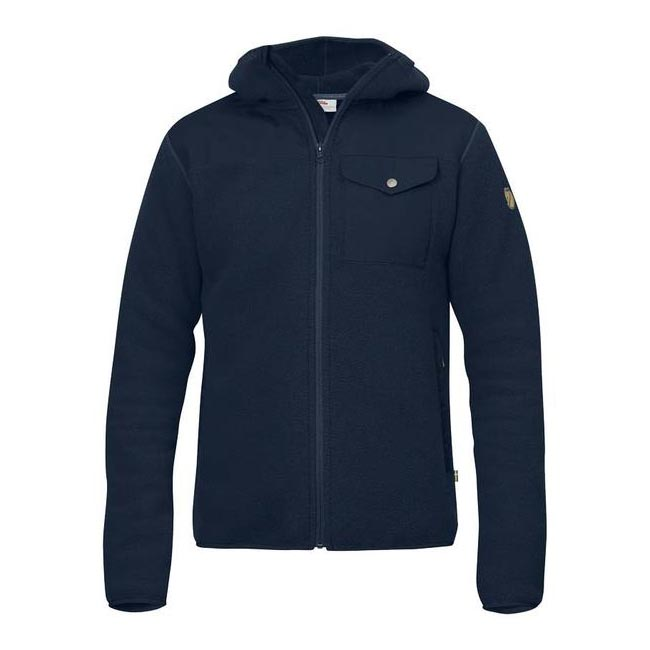 Men Fjallraven SINGI FLEECE HOODIE NAVY Outlet Online