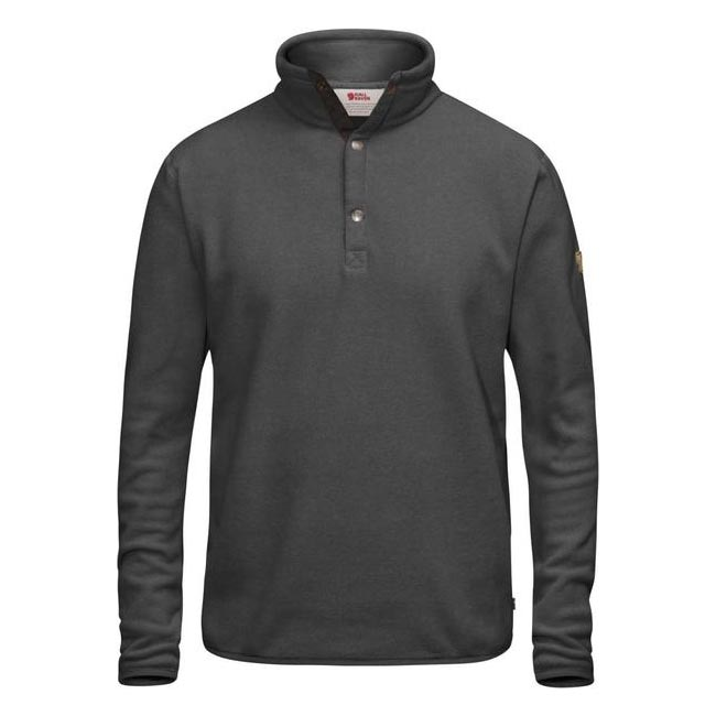 Men Fjallraven ÖVIK FLEECE SWEATER DARK GREY Outlet Online