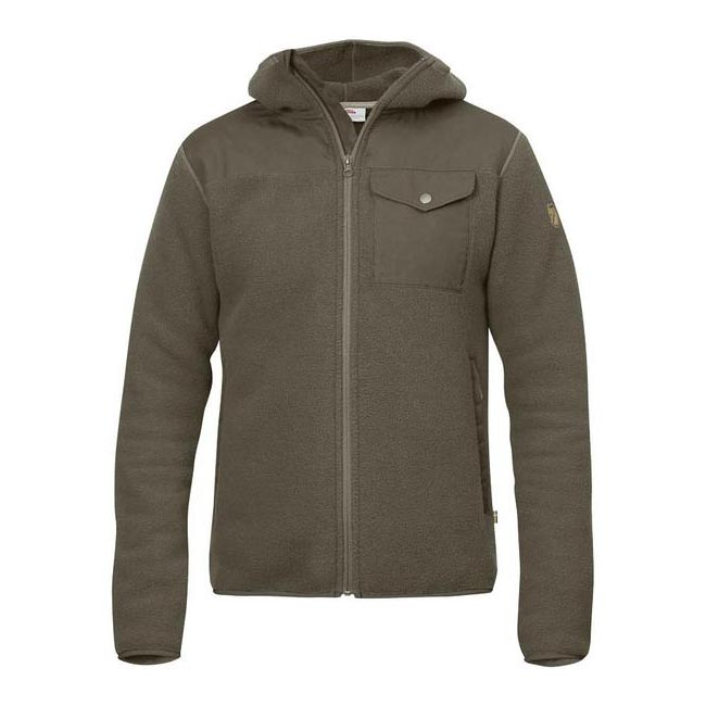 Men Fjallraven SINGI FLEECE HOODIE TARMAC Outlet Online