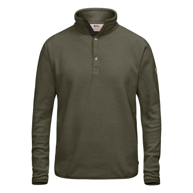 Men Fjallraven ÖVIK FLEECE SWEATER TARMAC Outlet Online