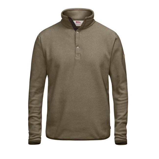 Men Fjallraven ÖVIK FLEECE SWEATER TAUPE Outlet Online