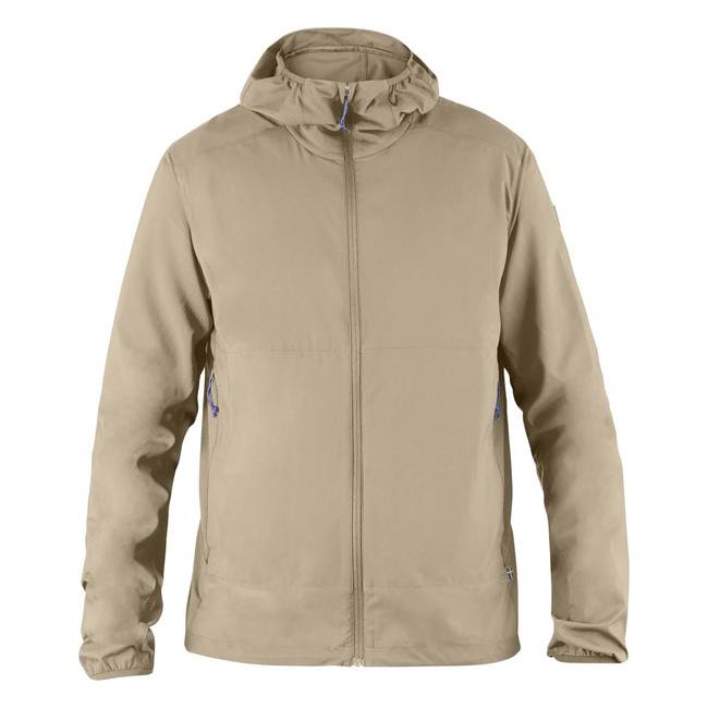 Men Fjallraven ABISKO HYBRID WINDBREAKER LIMESTONE Outlet Online