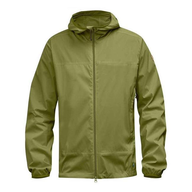 Men Fjallraven ABISKO WINDBREAKER JACKET MEADOW GREEN Outlet Online