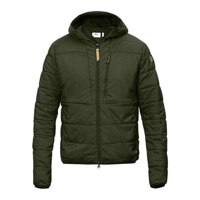 Men Fjallraven KEB PADDED HOODIE OLIVE Outlet Online