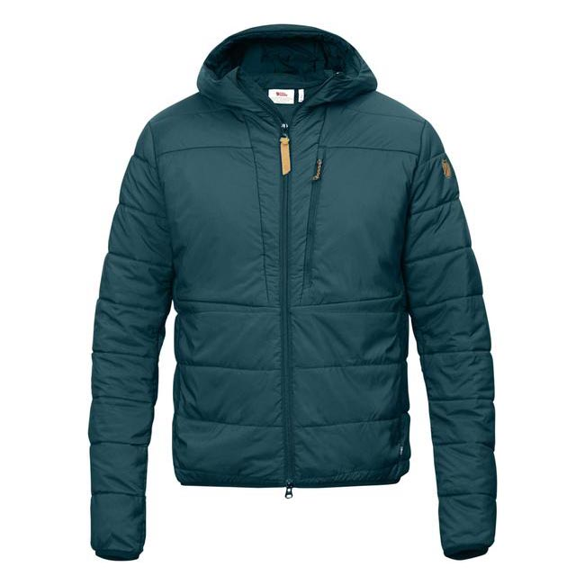 Men Fjallraven KEB PADDED HOODIE GLACIER GREEN Outlet Online