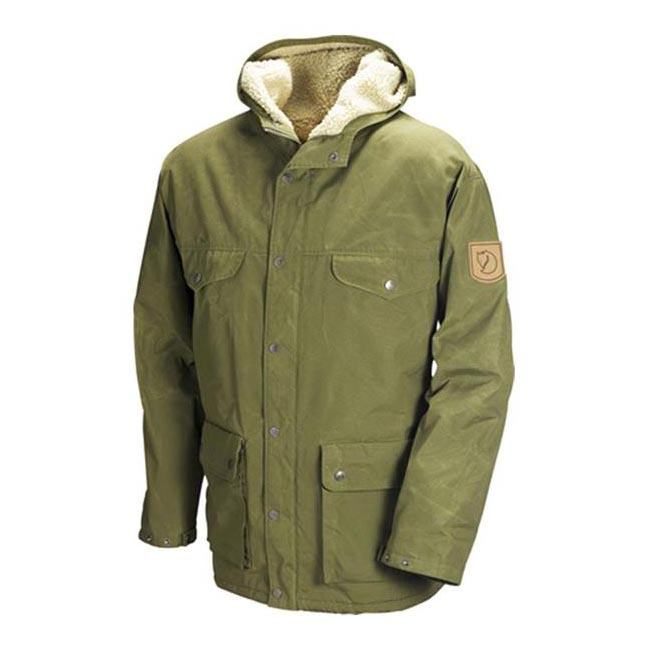Men Fjallraven GREENLAND WINTER JACKET GREEN Outlet Online