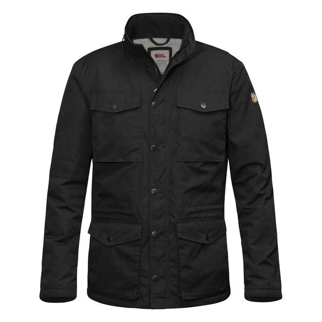 Men Fjallraven RÄVEN WINTER JACKET BLACK Outlet Online