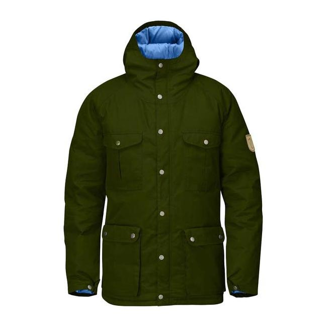 Men Fjallraven GREENLAND DOWN JACKET NEW MOSS Outlet Online