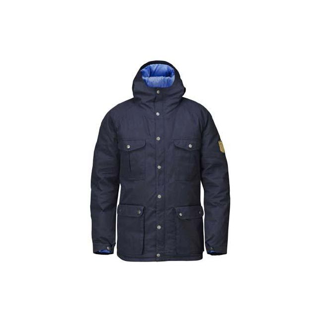 Men Fjallraven GREENLAND DOWN JACKET DARK NAVY Outlet Online