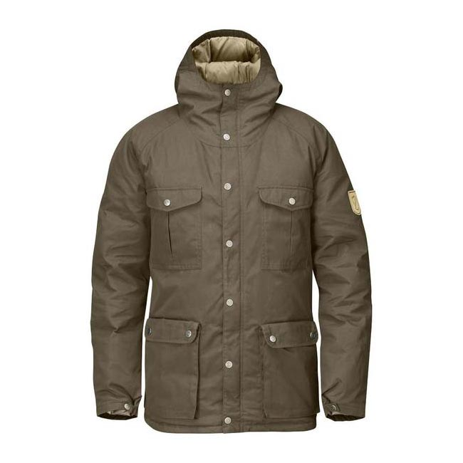Men Fjallraven GREENLAND DOWN JACKET TAUPE Outlet Online