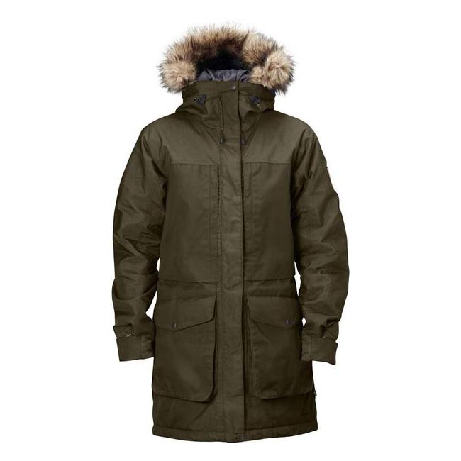 Men Fjallraven BARENTS PARKA DARK OLIVE Outlet Online