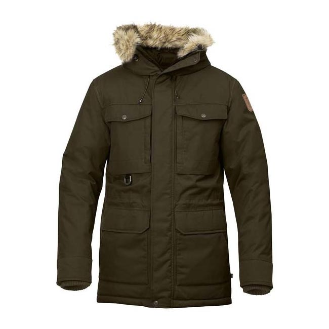 Men Fjallraven POLAR GUIDE PARKA DARK OLIVE Outlet Online