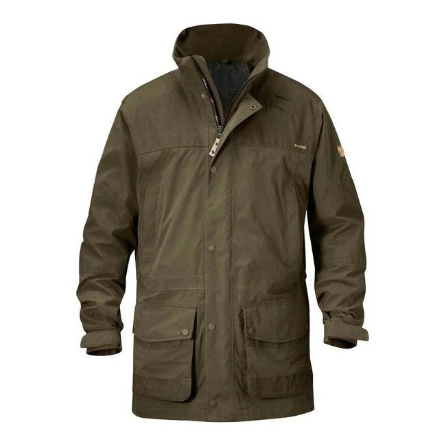 Men Fjallraven TIMBER BUCK JACKET DARK OLIVE Outlet Online