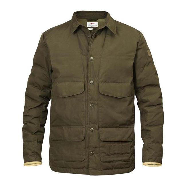 Men Fjallraven SÖRMLAND DOWN SHIRT JACKET DARK OLIVE Outlet Online