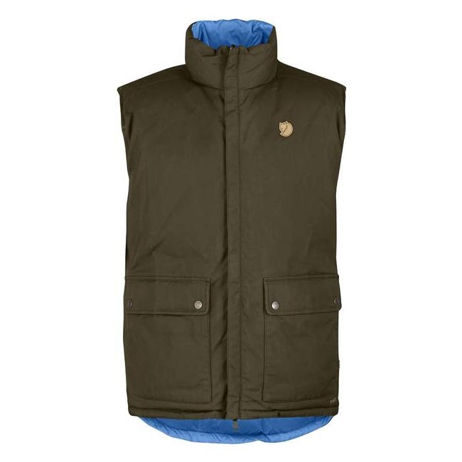 Men Fjallraven DOWN VEST NO. 8 DARK OLIVE Outlet Online