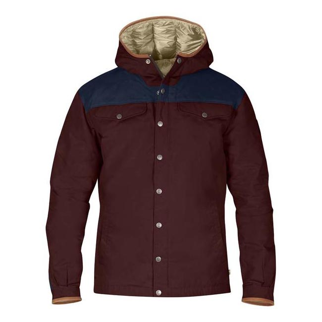 Men Fjallraven GREENLAND NO. 1 DOWN JACKET BURNT RED Outlet Online