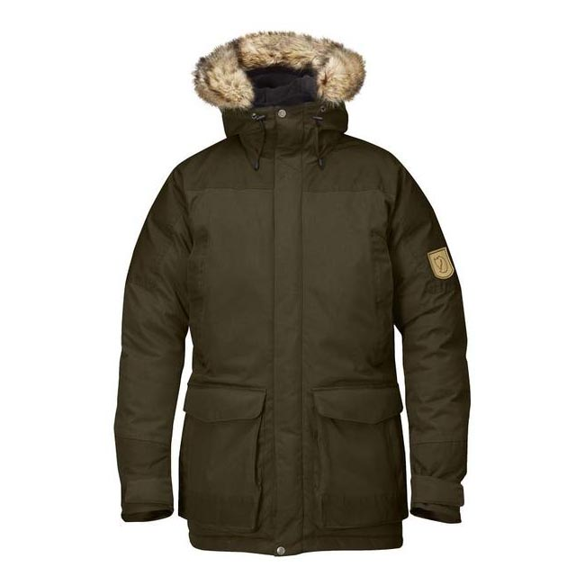 Men Fjallraven KYL PARKA DARK OLIVE Outlet Online