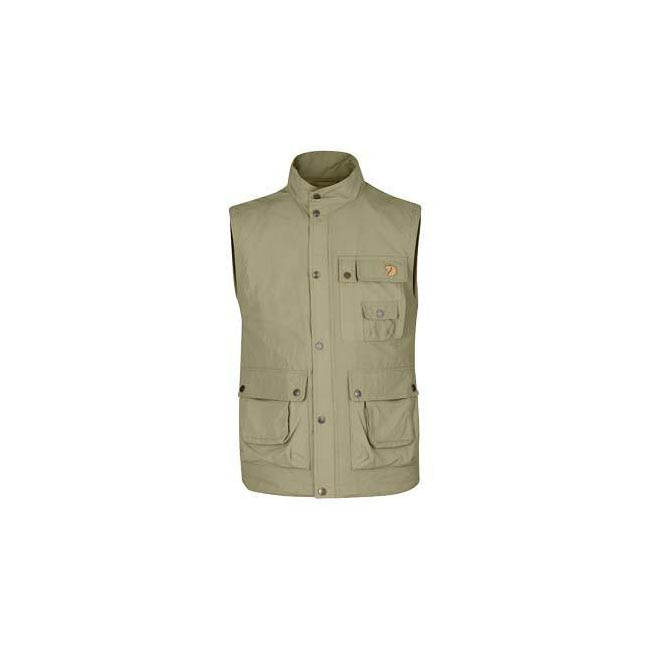 Men Fjallraven WILD VEST MT LIGHT KHAKI Outlet Online