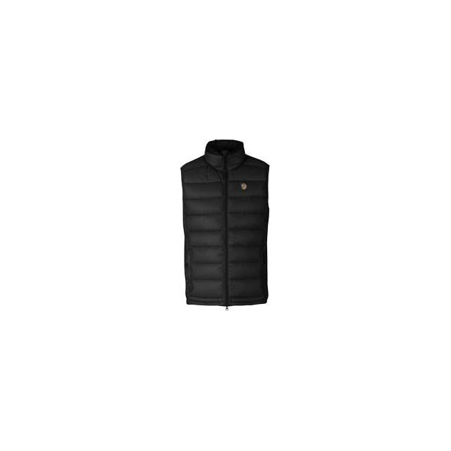 Men Fjallraven PAK DOWN VEST BLACK Outlet Online