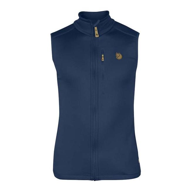 Men Fjallraven KEB FLEECE VEST BLUEBERRY Outlet Online