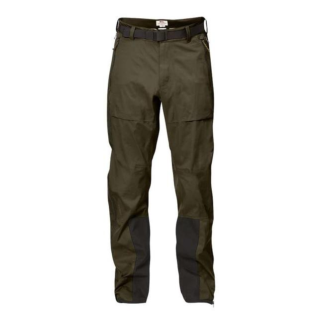 Men Fjallraven KEB ECO-SHELL TROUSERS DARK OLIVE Outlet Online