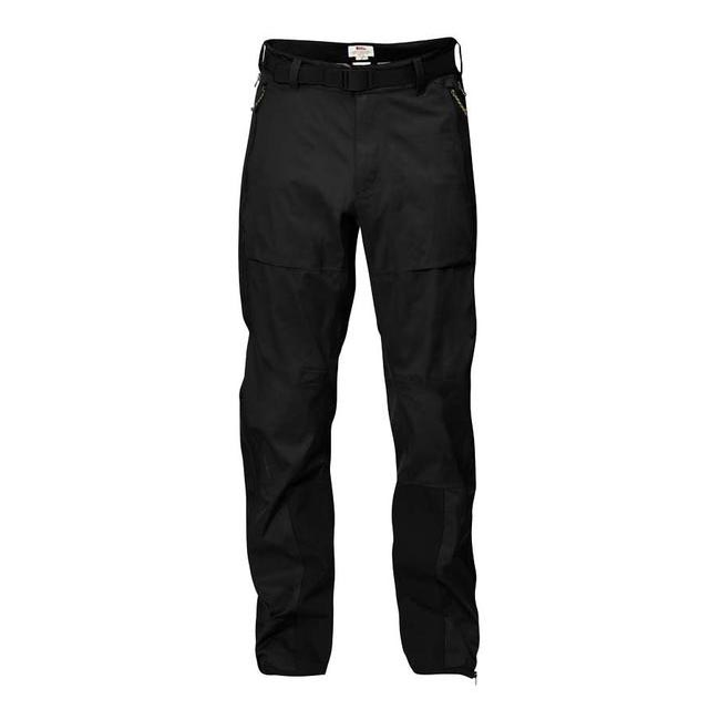 Men Fjallraven KEB ECO-SHELL TROUSERS BLACK Outlet Online