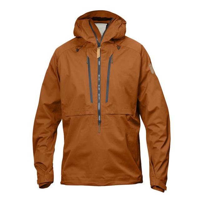 Men Fjallraven KEB ECO-SHELL ANORAK AUTUMN LEAF Outlet Online